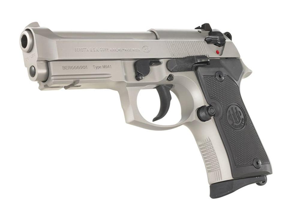 Beretta 92 Compact with Rail Inox Silver