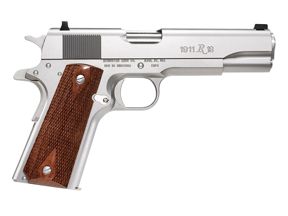 Remington 1911 R1 handgun in stainless finish