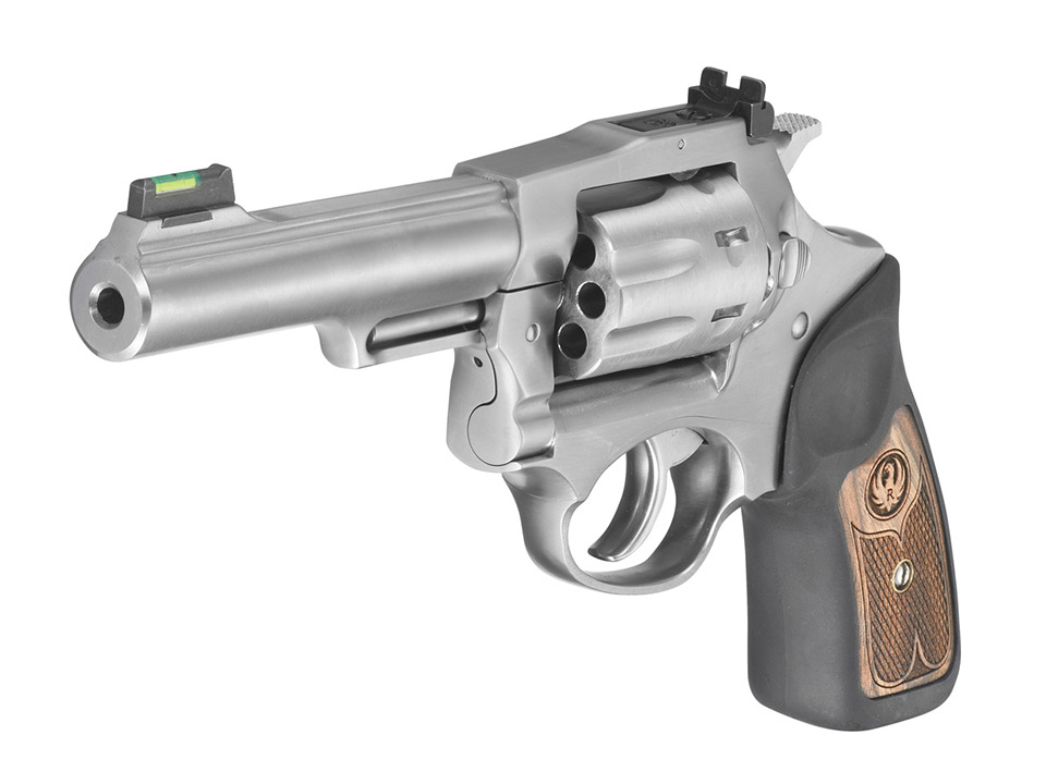 Ruger SP101 22LR revolver in stain stainless finish
